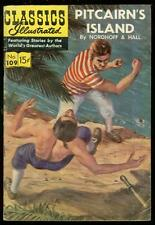 CLASSICS ILLUSTRATED #109 HRN 110-PITCAIRNS ISLAND VG