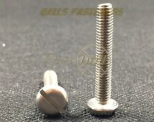 M6, Machine Screws, Slotted, Pan, A2 Stainless.
