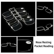 Nose Resting Pocket Reading Glasses Clip Strength 1.0 1.5 2.0 2.5 3.0 Economy