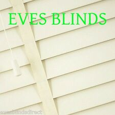 Made to measure Faux wood with TAPES White or Cream Plastic venetian blinds