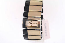 Ladies DKNY NY4382 Black & Gold-Tone Rectangular Dial Stainless Steel Watch