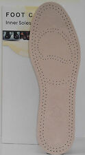 4 PAIRS SUPER SOFT REAL LEATHER INSOLES SHOE INSERTS FOR MEN AND WOMEN UK 8 - 9