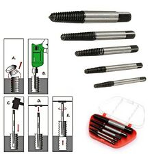 4/5 PCS Damaged Screw Extractor S2 Alloy Steel Out Remover Bolt Stud/Drill Bits