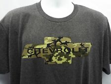 Chevrolet Camouflage Logo T-shirt (L-XL) GM Official Chevy New #9155