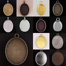 Tibetan Silver Copper Bronze Golden Oval Picture Photo Frame Pedant Charms Beads