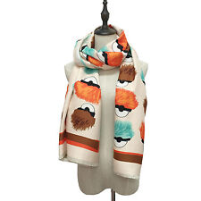 Fashion FF winter shawl monster eyes brand style cashmere scarf wrap pashmina