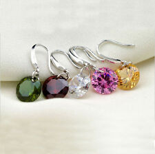 1 Pair Dangle Drop Ear Stud Elegant Rhinestone Women Ear Hook Earrings Crystal
