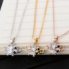 Childrens Girls Kid Elephant Pendant Chain +Necklace 14k Yellow Gold Filled Cute