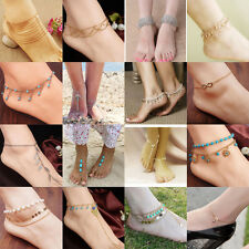 Sexy Women Crystal Bead Anklet Ankle Bracelet Barefoot Sandal Beach Foot Jewelry