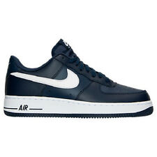 NIKE MENS AIR FORCE 1 LOW CASUAL MIDNIGHT NAVY WHITE SHOES **FREE POST AUSTRALIA