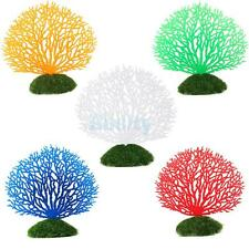 Aquarium Fish Tank Artificial Coral Ornament Underwater Plant Flower Decor