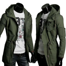 Mens Military Fashion Casual Jacket Warm Winter Coat Slim Outwear Overcoat HOT