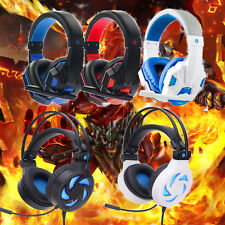 Surround Stereo Gaming Headset Headband Headphone LED USB 3.5mm with Mic For PC