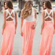 Sexy Sundress Maxi Boho Women Dress Evening Party Cocktail New Long Summer Beach