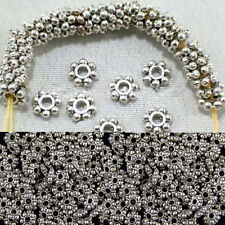 100pcs/400pcs Findings Daisy Jewelry Spacer Beads Tibetan Silver Chic 4mm/6mm