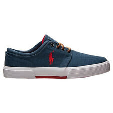 POLO RALPH LAUREN MENS FAXON LOW CASUAL NAVY RED SHOES **FREE POST AUSTRALIA