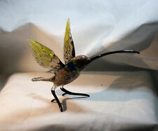 Art Blown Glass Murano Figurine Glass  Hummingbird