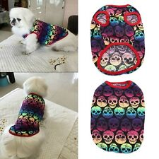 Style Summer Dog Skull T Shirt Puppy Cat Dog Vest Clothes Apparel Costumes