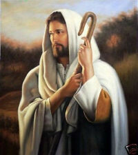 Handcraft Portrait Oil Painting on Canvas Forgiving Jesus Christ 24X36inch #02