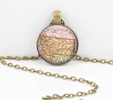 Montana Vintage Map Pendant Necklace Jewelry or Key Ring