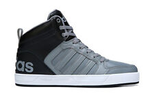 ADIDAS MENS NEO RALEIGH 9TIS HIGH TOP SNEAKER GREY BLACK SHOES **FREE POST AUST