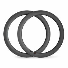 1pair 60mm Clincher Carbon Rims Road Bicycle 700C Rims for Bike Wheelset