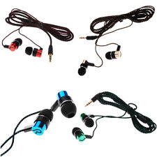 Subwoofer MP3/Mp4 Metal Ear Headphone Roping Earbud Stereo Earphone Hot 3.5mm
