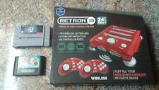 NEW Retron 3 Red RETRO Console System , SNES, & Genesis game bundle NICE!!!!