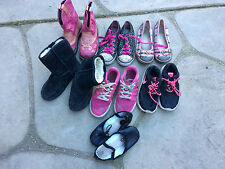 Lot Of 7 Girls Shoes Nike boots slippers sketchers light up size 13 1 2 boot emu