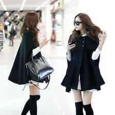 Hot SaleWomen Batwing Wool Poncho Winter Warm Coat Jacket Loose Cloak Cape Parka
