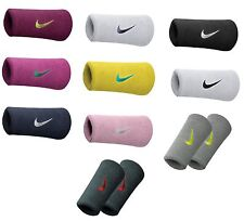 Nike Tennis Badminton Swoosh Double-Wide Wristband Sweatbands Squash Wrist Band