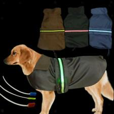 Waterproof Pet Dog Coat Jacket Fleece LED Reflective Vest Clothes