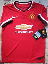 BNWT MANCHESTER UNITED 2014-15 HOME FOOTBALL SOCCER JERSEY YOUTH BOYS SIZES