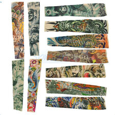 New Stretchy Temporary Fake Tattoo Sleeve Arm Stockings Costume Punk Fancy Dress