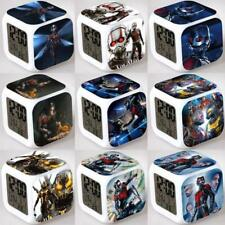 Ant-Man Seven Color Change Glowing Digital Alarm Clock Child Kids Gifts New