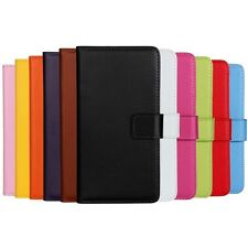 High Quality Real Genuine Leather Flip Wallet Phone Case Samsung Galaxy models