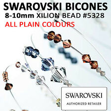 SWAROVSKI Crystal Xilion BICONES Beads: 8mm-10mm #5328 ALL PLAIN COLOURS Genuine