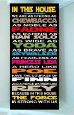 STAR WARS wooden sign Princess Leia..In this house we are as strong as a ....
