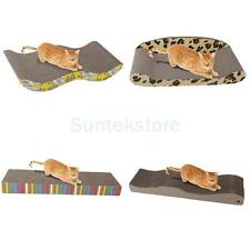 Corrugated Board Cat Kitten Scratcher Pet Toy Scratch Pad Catnip Bed 3 Styles