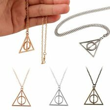 Film Movie Harry Potter The Deathly Hallows Charm Pendant Chain Necklace Collect
