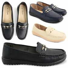 NEW WOMENS SUMMER PUMPS LADIES LIGHTWEIGHT MOCCASIN EVENING DRIVING SHOES SIZE