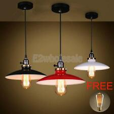 Loft Industrial Metal Vintage Ceiling Light Chandelier Lamp Base-Red/Black/White