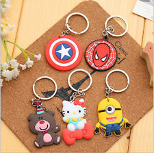 4 Pcs Cute Key Cover Top Head Cover Chain Cap Keyring Bags/Phone Keychain Strap