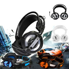 USB 3.5mm Surround Stereo Gaming Headset Headband Headphone with Mic For iPhone