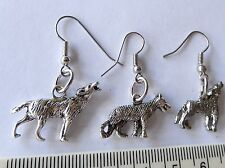 Wolf, Howling Dog, Twilight, Team Jacob, imported charms made into earrings