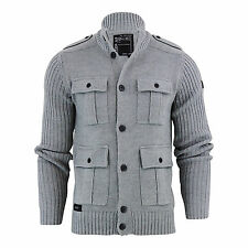 Dissident Brook Wool Mix Button Up Cardigan - Mid Grey Marl