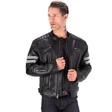Motorbike Motorcycle Reflective Leather Bikers Jacket for Men