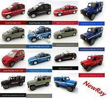 NewRay 1:43 Scale Die-Cast Fiat Panda.Alfa Remeo  or Land Rover Defender Model