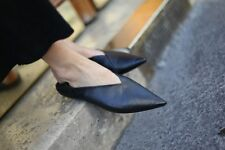 ZARA NEW SS 2016 BLACK LEATHER POINTED BABOUCHES FLAT SHOES Ref 3205/101 BLOGGER