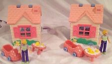 EUC Fisher Price Sweet Streets 1 Girls Club PLAYHOUSE Family COMPLETE Travel Toy